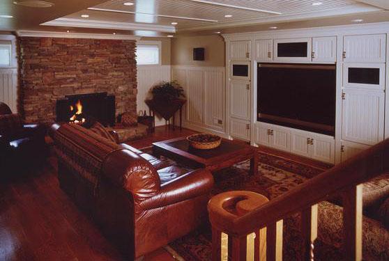 Family Room Design in Northern VA