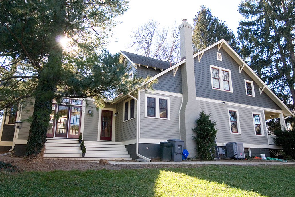 1920s style craftsman bungalow remodeled exterior