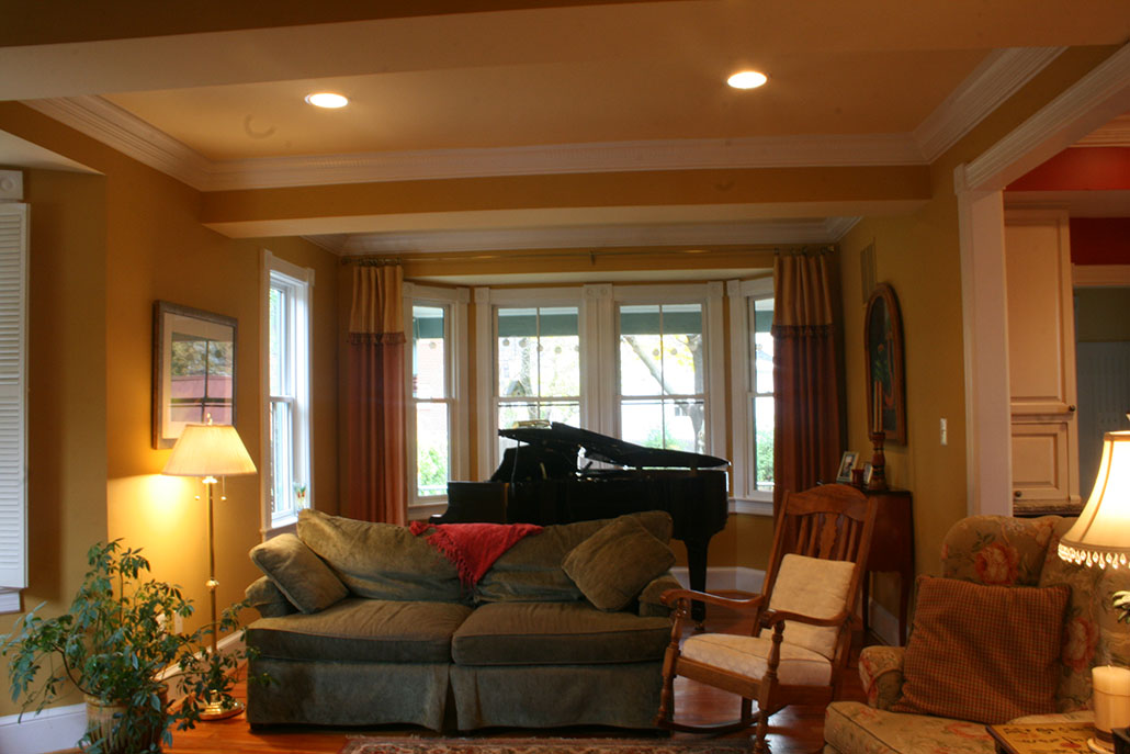 Living room addition 3 story historical home renovation in for Living room addition ideas